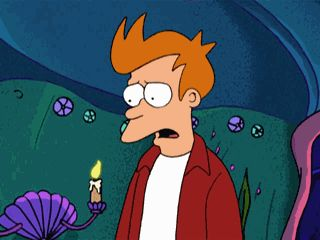 Fry Screaming In Horror (Futurama)