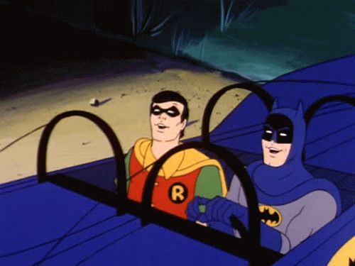 Batman & Robin Headbanging